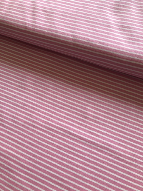 Pink and White Stripe - Ruffle